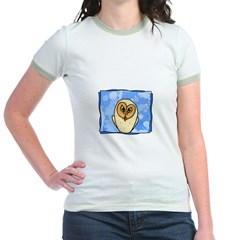 Owl in blue Jr. Ringer T-Shirt