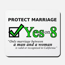Yes on 8 Mousepad