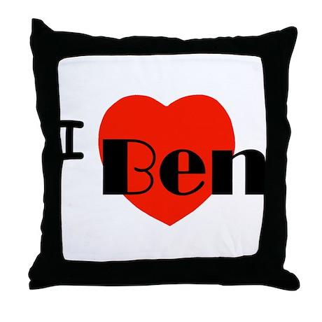 I Love Ben Throw Pillow