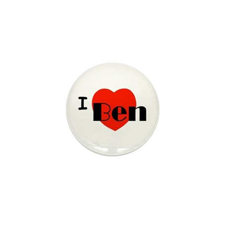 I Love Ben Mini Button