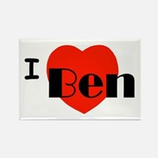 I Love Ben Rectangle Magnet
