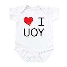 I Heart You (Mirror Image) Infant Bodysuit