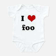 I Love foo Infant Bodysuit