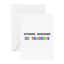 Studio Manager In Training Greeting Cards (Pk of 1