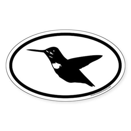 Hummingbird Euro Oval Sticker
