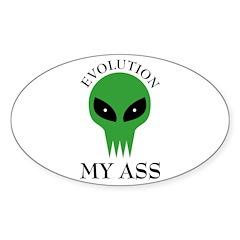 Evolution My Ass Oval Decal