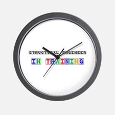 Structural Engineer In Training Wall Clock