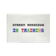 Street Musician In Training Rectangle Magnet