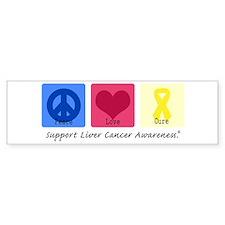 Peace Love Cure LC Bumper Bumper Sticker