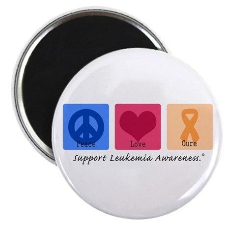 "Peace Love Cure Leukemia 2.25"" Magnet (100 pack)"