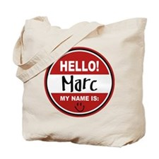 Hello my Name is Marc Tote Bag