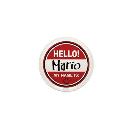 Hello My Name is Mario Mini Button (100 pack)