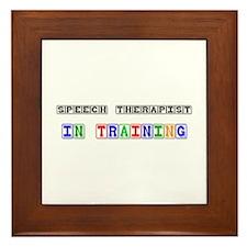 Speech Therapist In Training Framed Tile