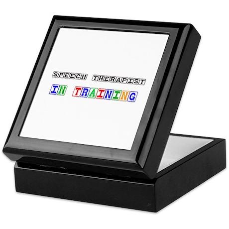 Speech Therapist In Training Keepsake Box
