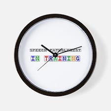 Speech Pathologist In Training Wall Clock