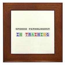 Speech Pathologist In Training Framed Tile