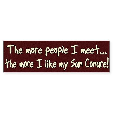 More People Sun Conure Bumper Sticker