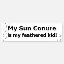 Sun Conure Feathered Kid Bumper Bumper Bumper Sticker