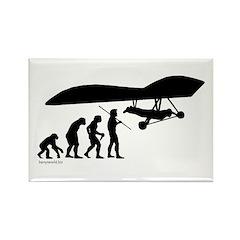 Hang Glider Evolution Rectangle Magnet (100 pack)