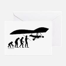 Hang Glider Evolution Greeting Cards (Pk of 20)