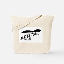 Hang Glider Evolution Tote Bag