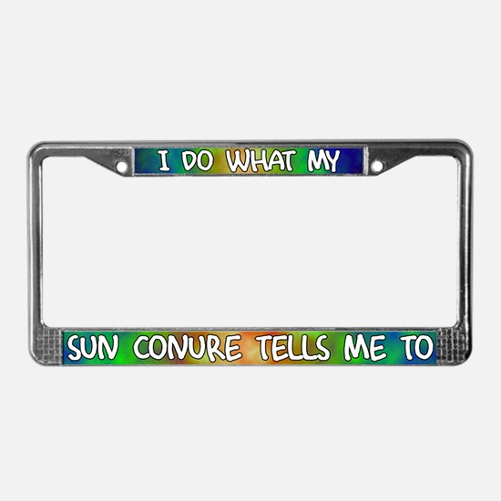 Do what Sun Conure License Plate Frame