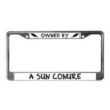 Owned by a Sun Conure License Plate Frame