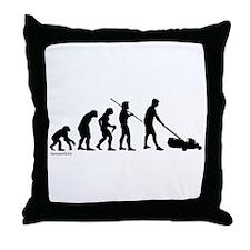 Lawnmower Evolution Throw Pillow