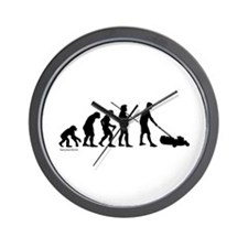 Lawnmower Evolution Wall Clock