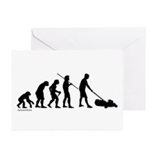 Lawnmower Evolution Greeting Cards (Pk of 20)