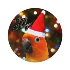 Merry Christmas Santa Sun Conure Ornament