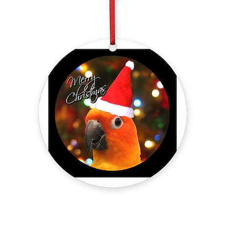 Merry Christmas Santa Sun Conure Ornament