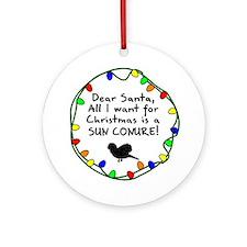 Dear Santa Sun Conure Christmas Ornament