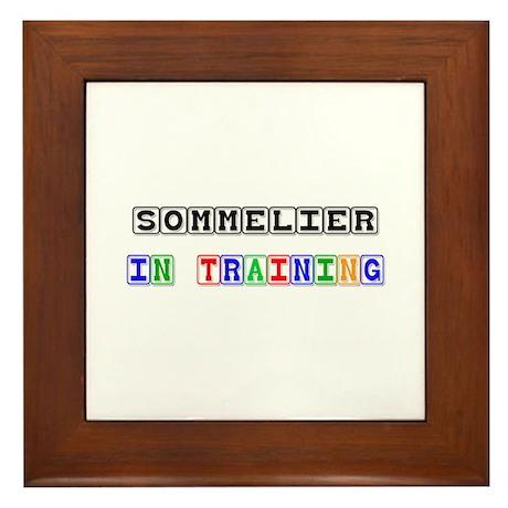 Sommelier In Training Framed Tile