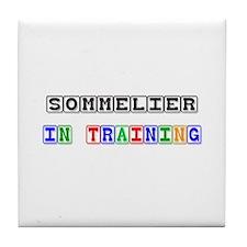 Sommelier In Training Tile Coaster