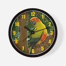 Jungle Sun Conure Wall Clock