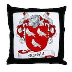 MacGill Family Crest Throw Pillow