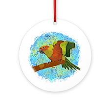 Sun Conure Art Ornament (Round)
