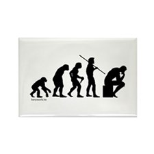 Thinker Evolution Rectangle Magnet (10 pack)