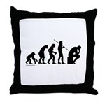 Thinker Evolution Throw Pillow