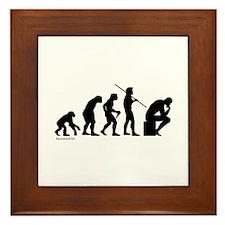 Thinker Evolution Framed Tile