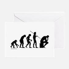Thinker Evolution Greeting Cards (Pk of 20)