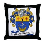 MacGillivray Family Crest Throw Pillow