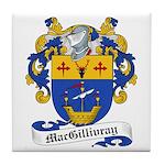 MacGillivray Family Crest Tile Coaster