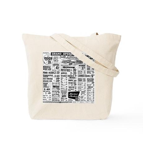 Market Basket Ad Tote Bag