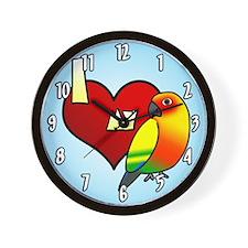 Love Sun Conure Clock