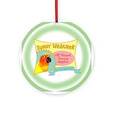 Sunny Weather Sun Conure Ornament (Round)