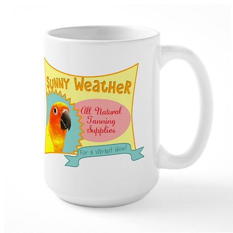Sunny Weather Sun Conure Large Mug