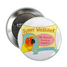 """Sunny Weather Sun Conure 2.25"""" Button"""