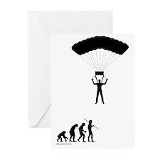 Sky Diver Evolution Greeting Cards (Pk of 20)